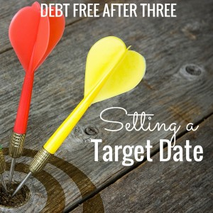 Setting a target date for debt payoff