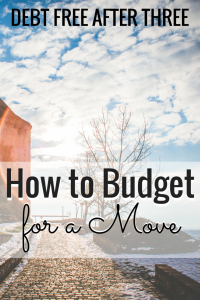 How to Budget for a move
