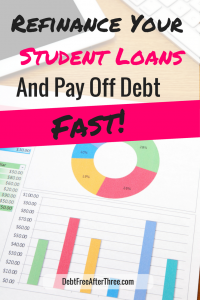 Pay off debt FASTER when you refinance your student loans. Plus, it only takes 10 minutes to apply!