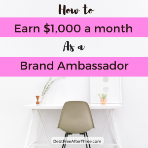 How to Earn $1,000 a month as a Brand Ambassador